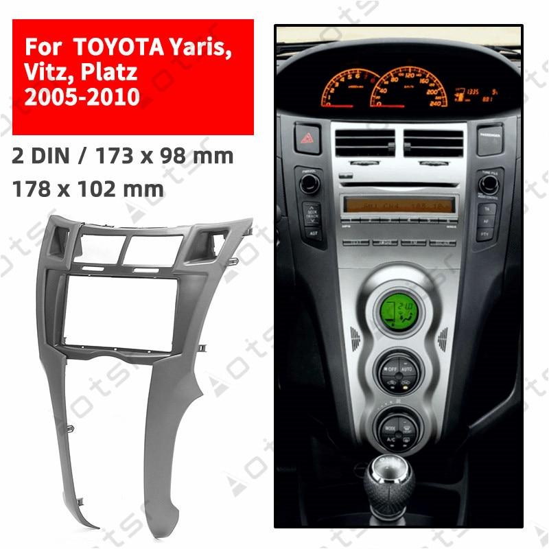 Fascia for Toyota Yaris Echo Vitz Platz facia panel dash kit adapter stereo kit