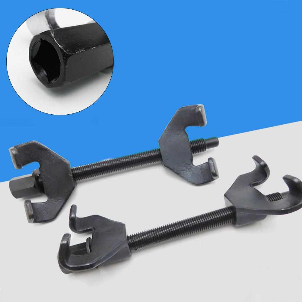 ¡Oferta! 1 par de abrazaderas de suspensión de resorte de compresor de Reparación de automóviles de amortiguación de herramienta de acero resistente desmontaje Universal duradero