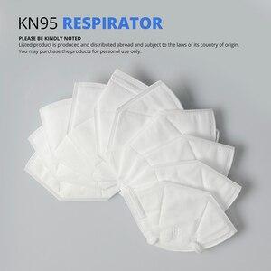 Image 2 - 10 個 KN95 防塵防曇と通気性のフェイスマスクろ過口マスク 3 層口マッフルカバー (ない医療用)