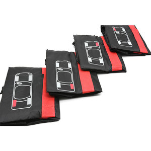 Image 3 - 4Pcs อะไหล่ยางกรณีโพลีเอสเตอร์ฤดูหนาวและฤดูร้อนยางรถเก็บกระเป๋า Auto ยางอุปกรณ์เสริมล้อรถป้องกันสีแดง
