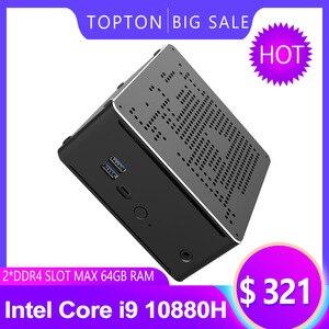 Image 5 - Najnowszy Mini komputer Intel i9 10880H i9 9880H i7 9850H 2 * DDR4 2 * M.2 PCIE + 1*2.5 SATA Graphics 630 cisza gier PC HDMI DP AC WiFi BT