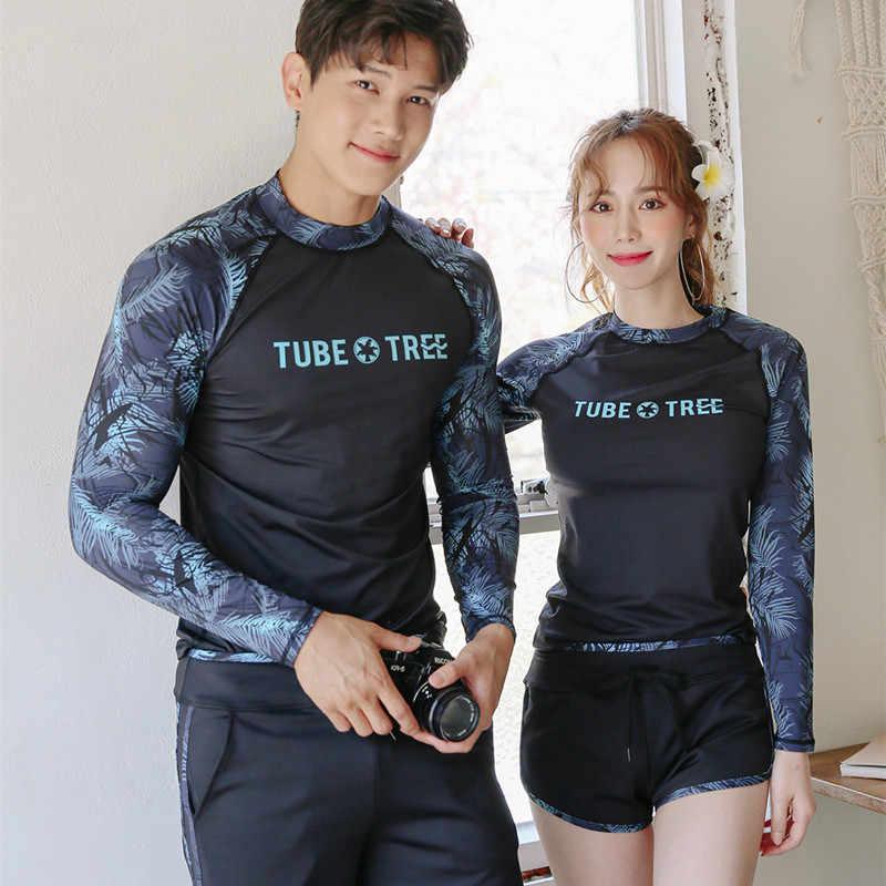 Beberapa Ruam Penjaga Baju Lengan Panjang Baju Renang Baju Renang Plus Ukuran dengan Lengan Pakaian Renang Wanita Musim Panas 2019 Ultraviolet Surfing