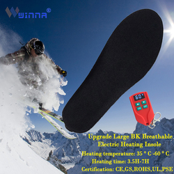 USB Electric Heating Insole Red Black BK Fabric Breathable Warming In Winter Heating Pads Unisex Outdoor Sports Thermal Insoles