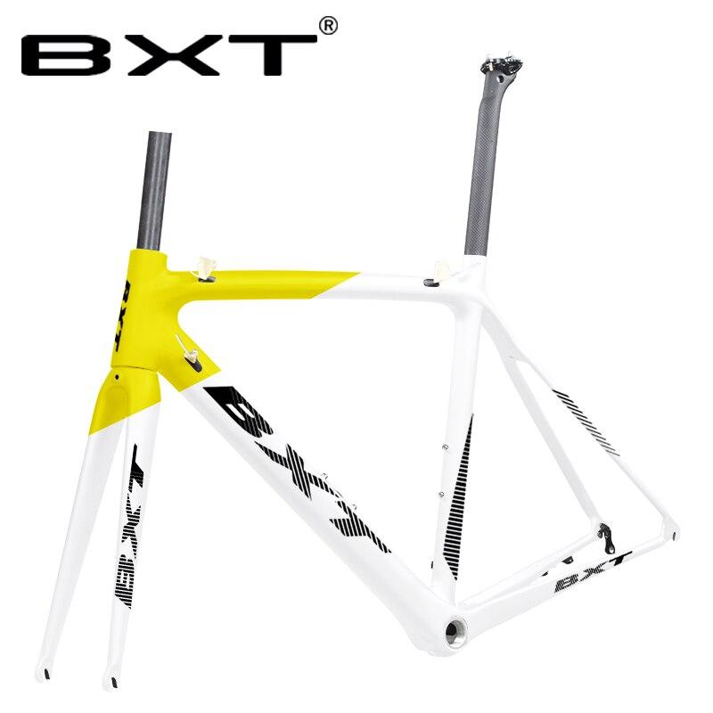 2019Carbon Road Bike Frame V Brake UD Matte/Glossy Carbon Racing Road Bicycle Frameset Suitable 130mm Hubsand 700C Wheels