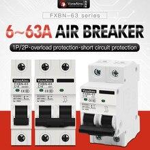 6A 10A 16A 25A 32A 40A 63A MCB disjoncteur Miniature de Protection contre les courts-circuits de surcharge 4.5KA 110V230V 400VAC pour un usage domestique