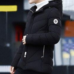 North Winter Bomber Jacket Men Korean Face Fashion Padded Warm Hooded Parkas 2019 Fashion Warm Streetwear Coats Plus Size 4XL