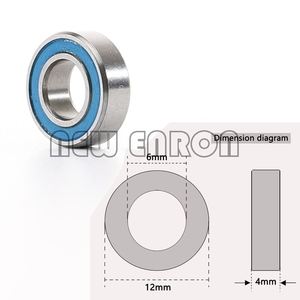 Image 4 - NEW ENRON Blue Ball Bearing 33PCS KIT Metric Rubber Sealed on Two Sides RC Car  FOR Traxxas E Revo Racing 52100 Chrome Steel