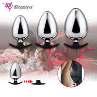 Extra big diameter dilatador anal expander metal buttplug adult sex toys masturbator large anal plug g spot butt plugs for women