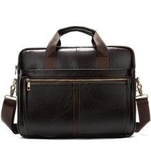 Saco dos homens maleta de couro genuíno real sacos de negócios para o homem masculino couro portátil maleta masculino bolsa de computador masculino masculino advogado 8572