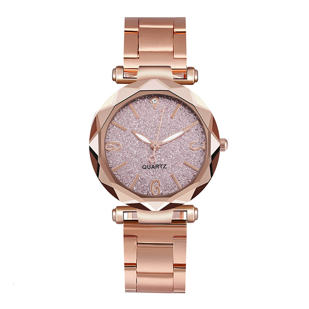 DUOBLA Women Watches Luxury Brand Quartz Wristwatches Ladies Watch Wrist Watch Starry Sky Dial Stainless Steel Strap Reloj Mujer