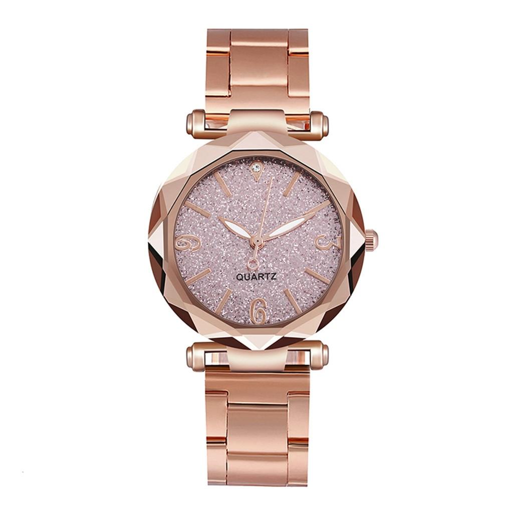 DUOBLA Women Watches Luxury Brand Quartz Wristwatches Ladies Watch Wrist Watch Starry Sky Dial Stainless Steel Strap Reloj Mujer