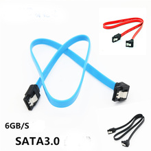 100pcs HDD SSD Data Serial ATA Cord Line SATA 3.0 III 6Gb/s 46cm Hard Disk Drive Straight Cable 90 Degree Right Angle Cables