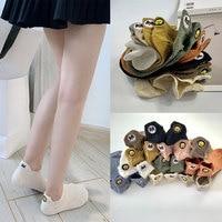 (10 pairs) New style cartoon embroidery ship socks cotton socks Japanese School Socks children invisible socks
