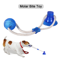 Tpr-Ball Suction-Cup Dog-Toy for Pet-Dog Tooth-Cleaning Tugtoy Push Doggy