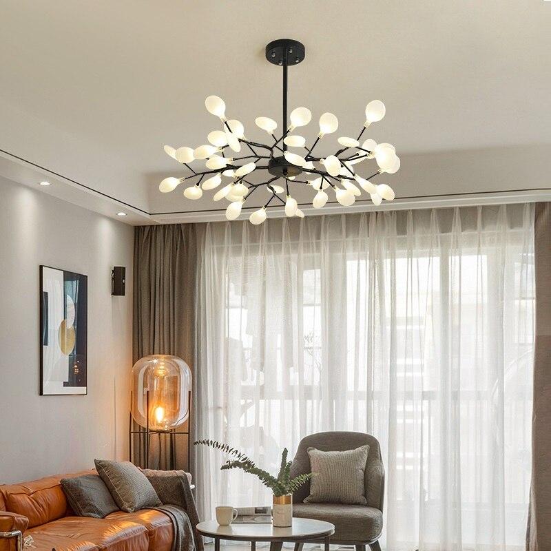 Современный Светлячок светодиодный светильник люстра стильная ветка дерева люстра лампа декоративный Светлячок потолочный светильник подвесной светильник ing - 4