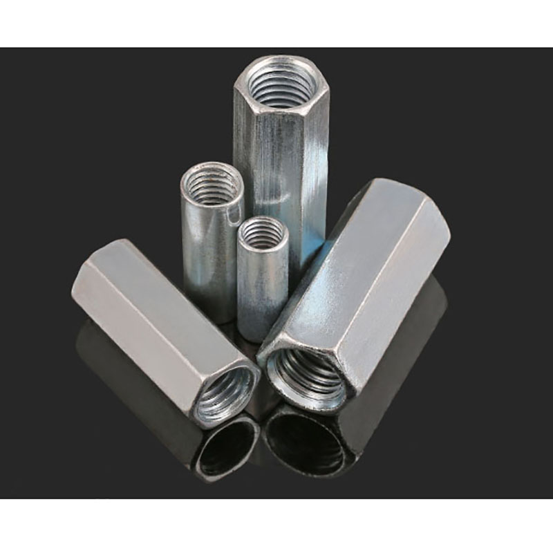 Coupling Nut M6 M8 M10 M12 M14 M16 M18 M20 Galvanized Extend Long Round Nuts Hexagonal Thread Nut For Connect Lead Screw Tool