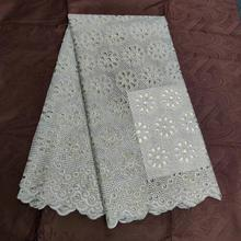 Factory price2019 Latest Style African dry Lace Swiss With stones Fabric For Party Dresses lace Winn678a