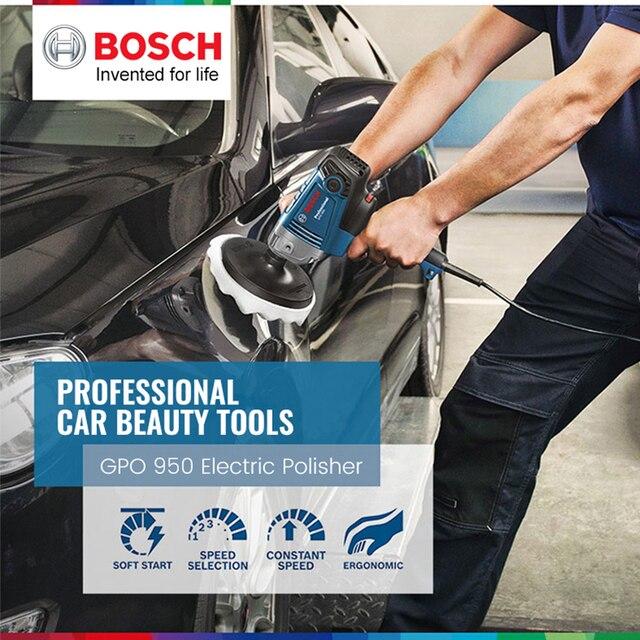 Bosch Polishing Machine GPO 950 DA Car Wax Polisher Electric 220V 50Hz Input Power 950w  EMC Backing Plate 180mm Polishing Pad 2