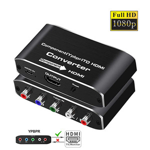 2020 YPbPr to HDMI converter 4K 60Hz video audio converter adapter for DVD PSP Xbox PS2 to HDTV monitor 5RCA RGB to HDMI convert