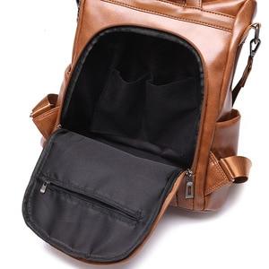 Image 4 - ZMQN Backpack Women 2020 Anti Theft Backpack Mochila Feminina Vintage Bagpack School Leather Bags For Womens Back Pack C131
