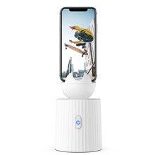 Vara de selfie portátil inteligente recarregável, rotação de 360 ° auto face object tracking câmera tripé suporte de tiro inteligente suporte para telefone