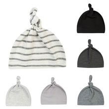 Весенне-осенне-зимняя новая хлопковая шапка для маленьких мальчиков и девочек, повседневная разноцветная теплая удобная вязаная шапка