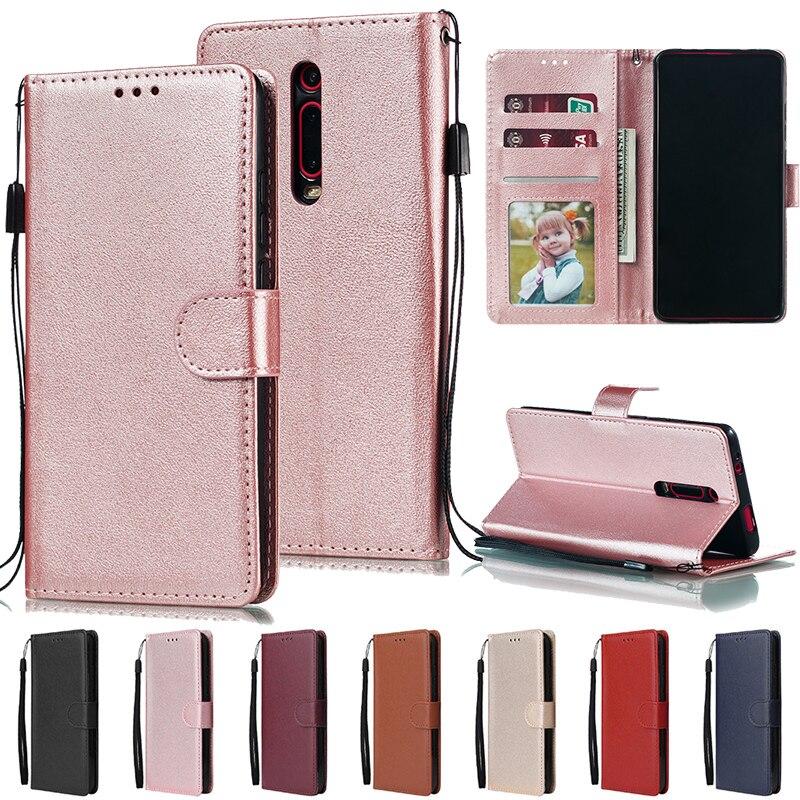 Redmi Note 9 8 8T 7 6 Pro 5 Plus K20 Pro Flip Wallet Leather Case For Xiaomi Mi A1 A3 Lite 9T Pocophone F1 CC9 Cards Wallet Case(China)