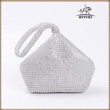 New Arrival Soft Women Evening Bags  Diamond Rhinestones Clutches Silver Black Gold Crystal Wedding Party Handbags Purse