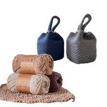 COOMAMUU 100 г/шт. хлопок смешанная пряжа для вязания крючком толстая нить Летняя мода грубая твист веревка для вязания крючком шляпы сумки