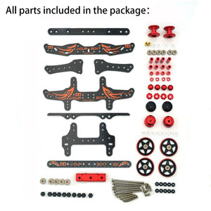Image 3 - MA/AR Chassis Modify Parts Set Carbon Fiber Plates Rollers Mass Damper for Tamiya Mini 4WD Racing Car Model 2017 Version