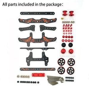 Image 3 - MA/AR هيكل تعديل أجزاء مجموعة ألياف الكربون لوحات بكرات الشامل المثبط ل Tamiya Mini 4WD سباق السيارات نموذج 2017 الإصدار