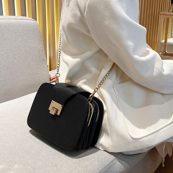 Women Bag Chain Crossbody Shoulder Bag Mini Women Phone Pocket Chain PU Faux Leather Handbag Small Messenger Bags Clutch 2019
