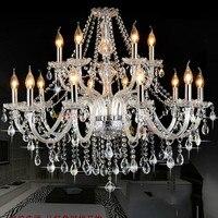 Preço por atacado lustre de cristal de 15 luzes disconto led lâmpadas lustres antigos para sala de estar foyer quarot de dormir luzes suspensos