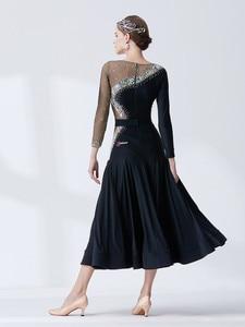 Image 2 - The new National standard modern dance clothing big pendulum dress practice clothing ballroom dancing Waltz M19136