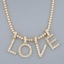 ZAKOL – collier de Tennis avec 26 lettres cubiques, accessoires pour femmes et hommes, bijoux Hip Hop, nouvelle collection