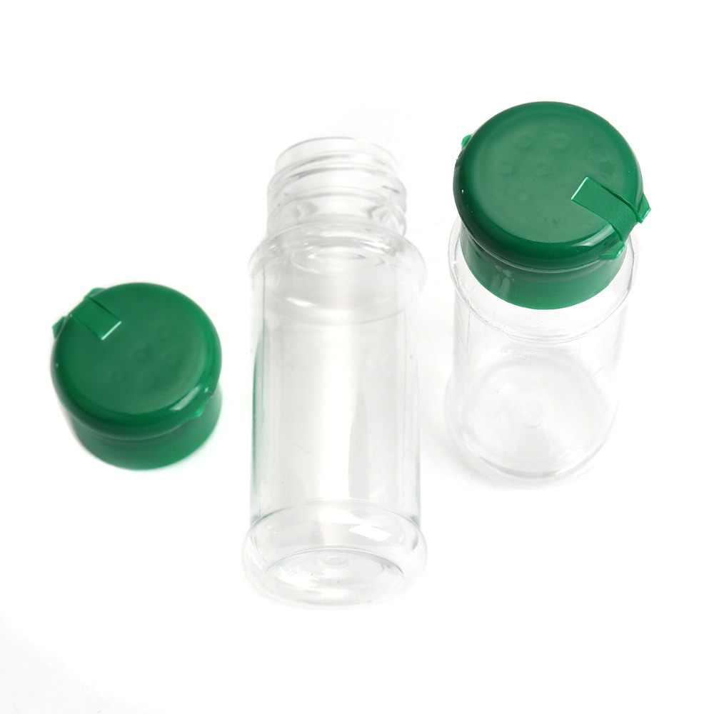 4 PC Plastik Lada Garam Cuka Minyak Cruet Shaker Jar Botol Pot Aksesoris Dapur Botol Bumbu 10.5*4 CM 100 Ml