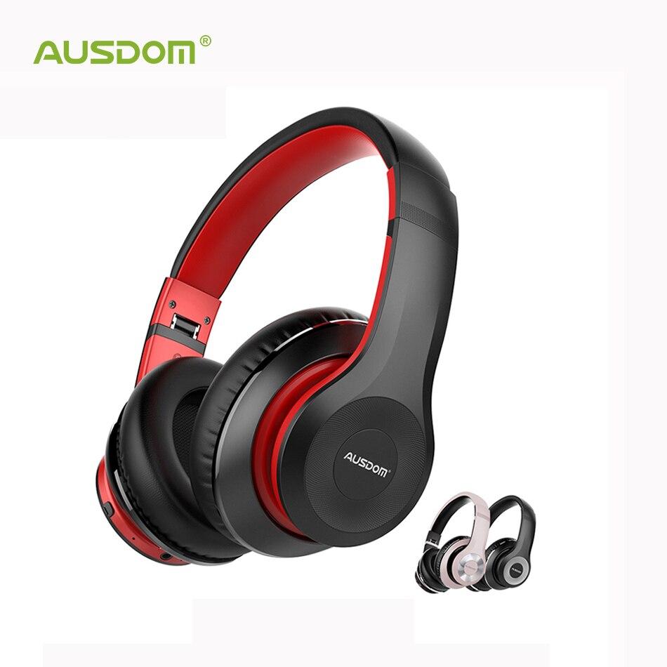 AUSDOM ANC10 actif suppression du bruit Bluetooth casque sans fil pliable 30H temps de jeu Hifi basses profondes Bluetooth casque