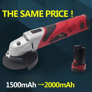 Image 2 - 12 Volt 2000mAh Cordless Lithium ion Angle Grinder Tool 100mm Disc Electric Angler Sander Wheel Grinder Woodworking Buffer Tool