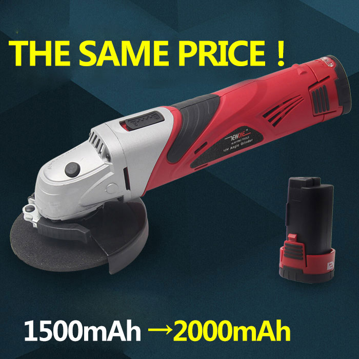 Image 2 - 12 Volt Cordless Lithium ion Angle Grinder Tool 100mm Disc Electric Angler Sander Wheel Grinder Woodworking Buffer Tool Polisher-in Grinders from Tools on
