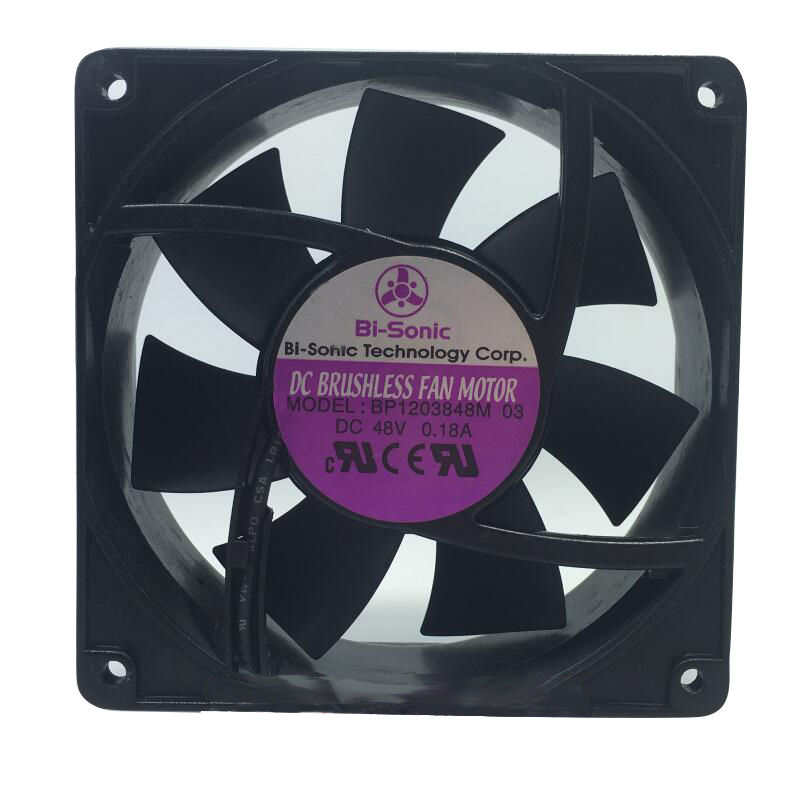 New Taiwan Bi-sonic BP1203848M-03 DC48V Axial Flow Cooling Fan