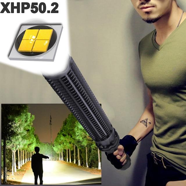 1000000 lumens XHP50.2 super powerful tactical flashlight led self defense Telescopic bat xhp50 waterproof rechargeable torch 1