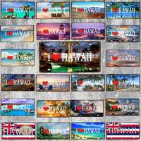 【Yzfq】30x15cm Seychelle Città Targa Souvenir di Viaggio Segno di Metallo Vintage Bar Negozio Decorazione Della Casa Della Parete Retro Poster DC-1213B