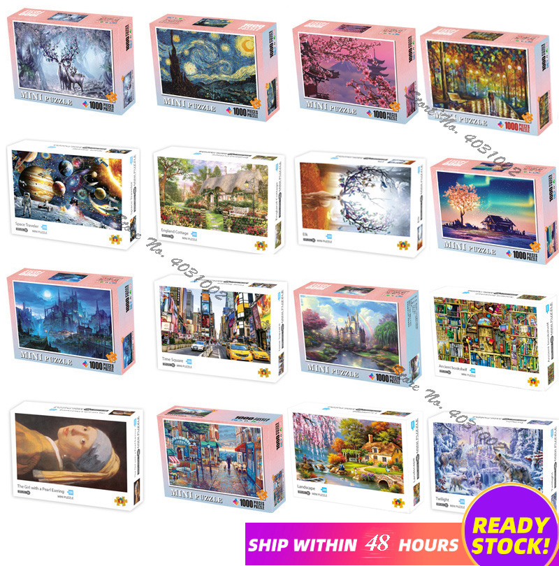 jigsaw puzzles 1000 pieces wooden Assembling picture Landscape puzzles toys for adults children kids games educational Toys|Puzzles| | - AliExpress