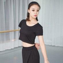 Танцевальная песня с высокой талией, одежда для йоги, женский открытый пупок, короткий рукав, для взрослых, одежда для тренировок, костюм