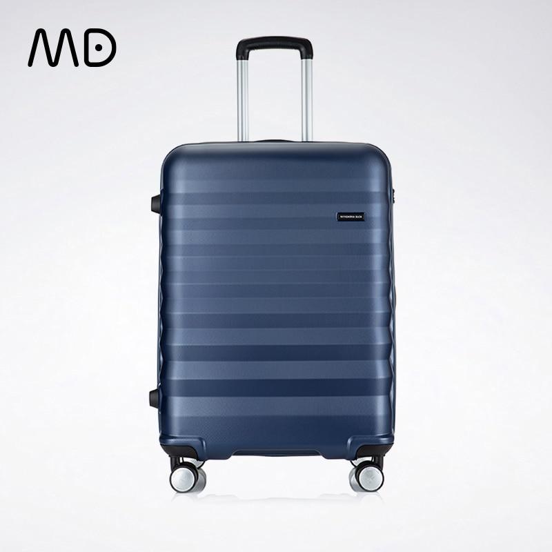Mandarina ördek bagaj 20 24 inç 4 tekerlekli Spinner hafif Hardshell PC bavul TSA kilit seyahat iş
