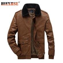 Куртка hiexhse мужская из искусственной кожи мотоциклетная верхняя