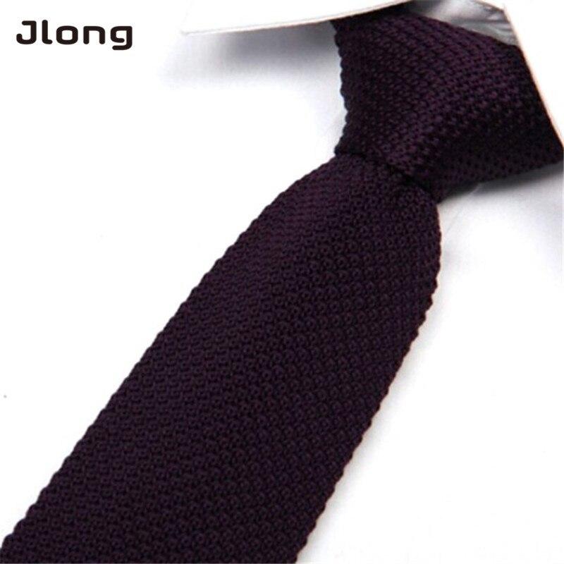 New Arrival Men's Fashion Solid Tie Knit Knitted Tie Plain Necktie Narrow Slim Skinny Woven