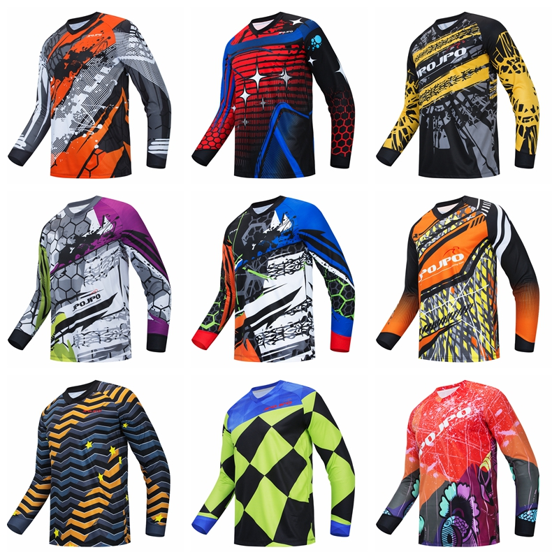 2020 Winter Racing Jersey Long Sleeve Shirt Men/'s Motocross Cycling Bike Tops