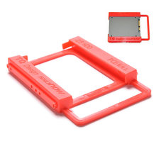"1Pcs 2.5 ""untuk 3.5"" SSD Bay Laptop Notebook Eksternal Hard Disk Drive SSD HDD Pemasangan Rel Adaptor bracket Pemegang Dock Bay(China)"