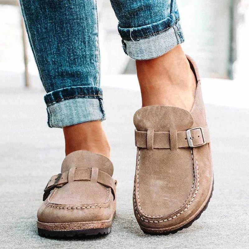 Mcckle Đế Bằng Nữ Cho Nữ Retro Giày Slip On Nữ Thoải Mái Nền Tảng Nữ Mới Thường Ngày Phụ Nữ Mùa Hè Giày 2020 Plus Kích Thước